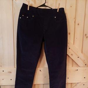 Kim Rogers Women's Corduroy Pants Navy Blue (6)